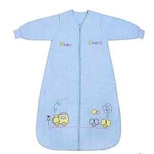 Slumbersac Saco de dormir niño pequeño Invierno manga larga aprox. 2.5 Tog, trenecito, 6-10 años/150 cm