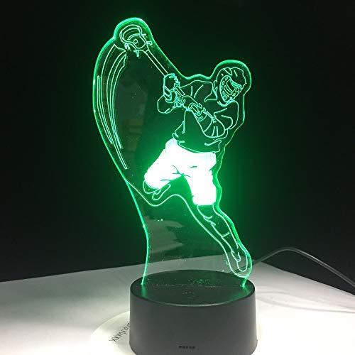 wangZJ 3d Illusion Lampe / 7 Farbwechsel Touch Nachtlicht/Baby Schlafzimmer Dekoration/Kinder Geschenk/hx/Golf -