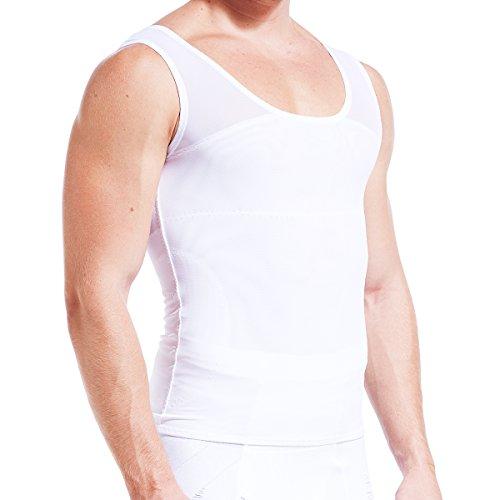 VENIMASEE Kompression Weste zu verstecken Mann boobs moobs Schlankheits-mens Shapewear (Nylon Slim Shaper)