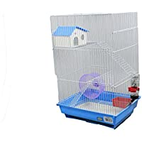 DZL jaula para hamster(34.5X28X53.5CM) color azul verde y prupura indica color prefiere, si no el color de la entrega a azar