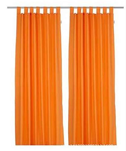 CCSUN Eleganz Schal Volant Vorhang Weich Schiere Schleier Transluzent Fenster Vorhang Für Für Schlafzimmer Wohnzimmer, 2-Panel-orange W140xh245cm(55x96inch)