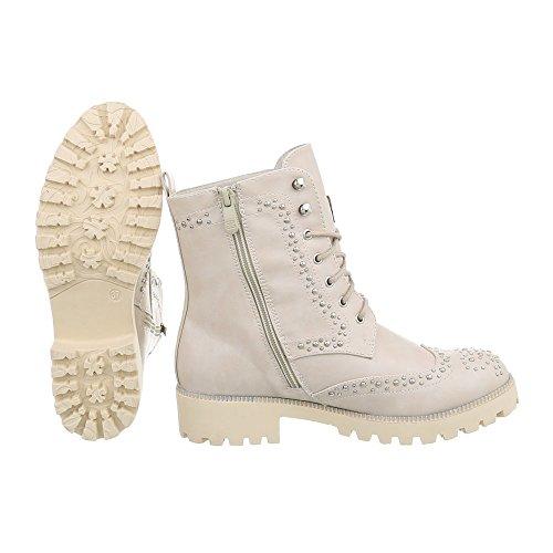 Beige Desert Ital design Femme Boots wqanTS8