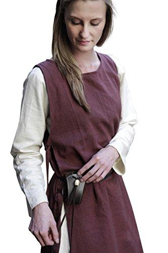 Braun Kostüm Kleid - Burgschneider Mittelalter Überkleid Haithabu - Braun M