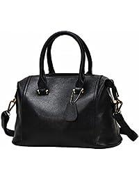 Bolso Femenino Simple Bolso de Mano Burton Paquete Diagonal Hombro , negro