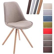 clp chaise de visiteur toulouse rembourre revtement en tissu style scandinave dossier ergonomique chaise - Chaise Scandinave Beige