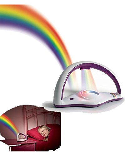 Vari Lámpara Noche, proyector luz Arcoíris con Cristal * 20647