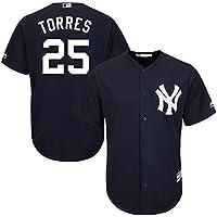 Personalizada Camiseta Deportiva Baseball Jersey Major League Baseball # 25 Torres New York Yankees,Blue,Men-L