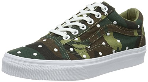 Vans Old Skool, Sneakers Basses Mixte Adulte, Multicolore (Camo Polka Dot), 39 EU