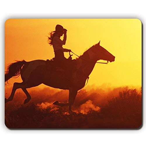 Yanteng Gaming Mouse Pad mousemat Mouse Pad, Girl on Horse, Game Office...
