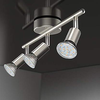 Faretti LED da soffitto orientabili, Plafoniera LED, luce bianca calda,lampadario moderno in metallo cromato per cucina o camera da letto, include lampadine LED GU10 da 5 W, 400Lm,230V