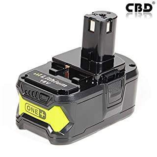 1 ×CBD RB18L50 P108 18V 5.0Ah Lithium Battery with Recharge Indicator for Ryobi ONE+ Tools RB18L40 RB18L25 RB18L15 RB18L13 P108 P107 P122 P104 P105 P102 P103 Power Tool Battery