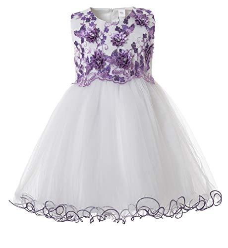 CIELARKO Baby Mädchen Kleid Prinzessin Kleinkind Blume Taufkleid Festzug Hochzeits Kleidung 3-24 Monate