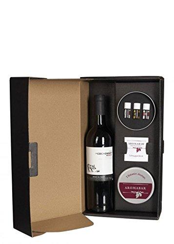 Aromabar - Sinnesgeschenk Rotwein Geschenkkarton mit Schnupperdose & 3 Aromen