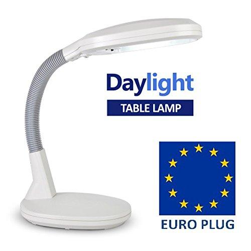 MiniSun - lampada potente a LED da tavolo - 8w, regolabile, luce del giorno, per scrivania ecc.