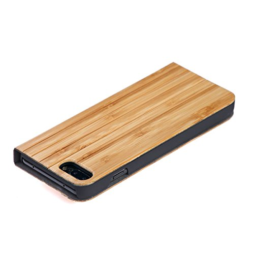 WOLA iPhone 7 Plus / 8 Plus case flip legno FORREST cover plegable noce bambu