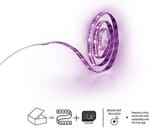 41EMuU3ezIL [Bon Plan Objets connectés] Philips Hue Ruban led connecté Lightstrip Hue 2m Pilotable Via Smartphone (Pont hue requis)