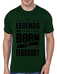 b0bf756ae Mopixie 2017 New Casual Legends Are Born In February Funny Birthday Gift  Printed Short Sleeve Tees