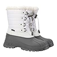 Mountain Warehouse Whistler Womens Snow Boots - Waterproof Ladies Winter Shoes, Warm, Textile Upper, Reinforced Heel & Toe Bumpers - Ideal for Skiing & Snowboarding