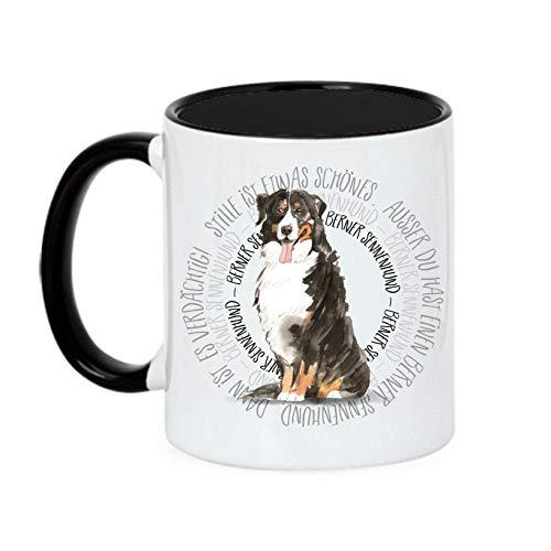 Siviwonder Tasse Circle - Berner Sennenhund - Watercolor Dogs Hundemotiv Fun Kaffeebecher