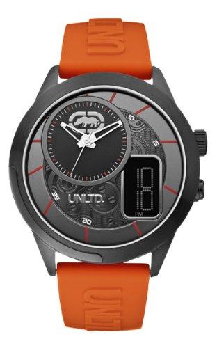 Marc Ecko E14545G1 - Reloj de cuarzo para hombres, color naranja
