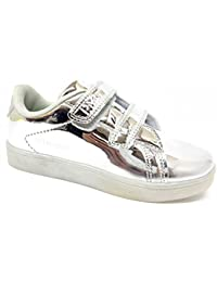 Sneakers bianche con chiusura velcro per unisex Acmede WELX14