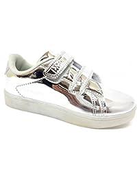 Sneakers bianche con chiusura velcro per unisex Acmede