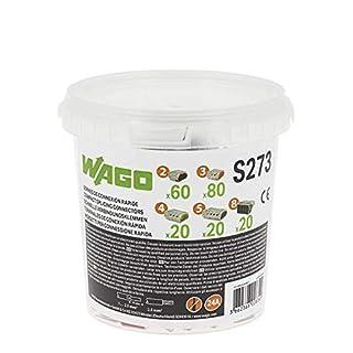 WAGO - Seau de 200 bornes de connexion automatique S273 2,3,4,5 et 8 entrées