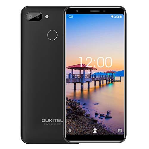 "OUKITEL C11 Pro 4G Smartphone Libre, 5.5\""/18:9 HD+ Android 8.1 MT6739 Quad Core 1.3GHz 3GB+16GB Teléfono Móvil Barato, Cámara 8MP+2MP, Batería 3400mAh Doble SIM + Fingerprint - Negro(oferta oficial)"