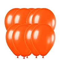 """thehomegallery 12"""" METALLIC/Pearlised LATEX BALLOONS (Decoration/Birthday/Party) (20 Balloons, Orange)"""