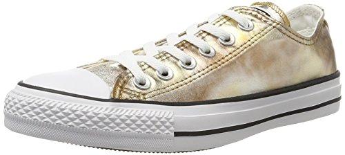 Converse Unisex-Erwachsene CTAS OX Silver/Gold/White Sneaker Mehrfarbig, 38 EU