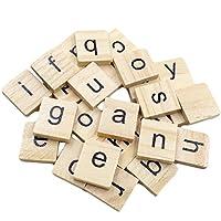 LjQQjDz 100Pcs English Alphabet Word Scrapbooking Letter Block Puzzle Kids Children Toy IQ Test Mind Game Toys Stress Relief Birthday Gifts for Kids