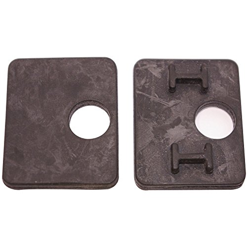 CROSO Gummieinlage für CROSO Klemmbeschlag eckig | für 10 mm Glasstärke | 1 Paar (für 1 Klemme)
