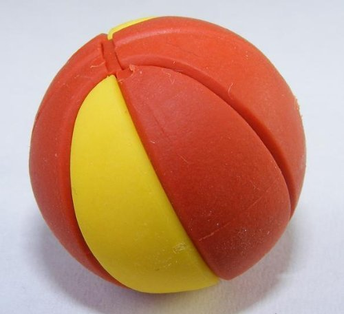 l Sports Japanese Eraser. 2 Pack. Yellow & Brown by PencilThings (Basketball Beach-ball)
