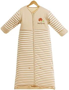 Chilsuessy Winter 2.5 Tog Kinder Schlafsack mit abnehmbaren Ärmeln Bio Babyschlafsack für Jungen und Mädchen von...