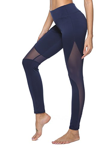 dh Garment Sport leggings Damen hohe Taille Yoga Hose mit Bundtasche – Bauchkontrolle(Größe L