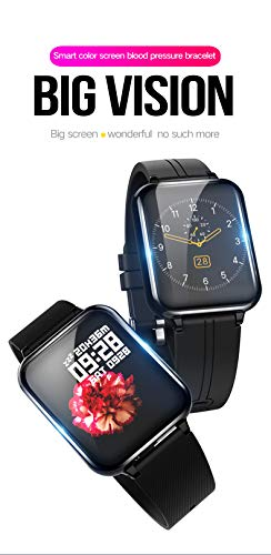 Imagen de jpantech smartwatch, 5atm impermeable reloj inteligente hombre mujer, pulsera actividad inteligente reloj deportivo reloj fitness con pantalla táctil pulsómetro cronómetros para iphone rosa  alternativa