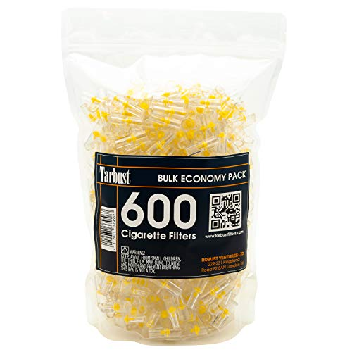 TarBust Zigaretten Filter, 600 Cigarette Filters Große Preiswerte Packung, Vergleichen Sie mit Nicobuster
