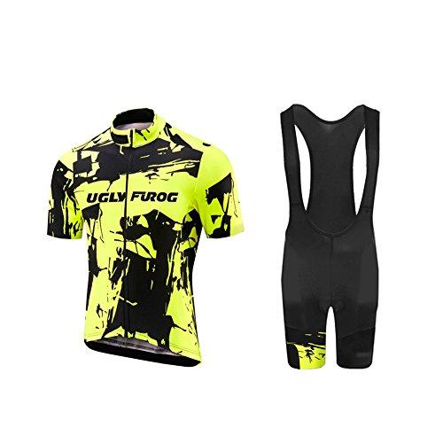 Uglyfrog -Bunt Camo Sport Radsport Trikots & Shirts+Trägerhosen Sets with Gel Pad Kurzarm Herren Sommer Stil Bekleidung Atmungsaktiv Clothes