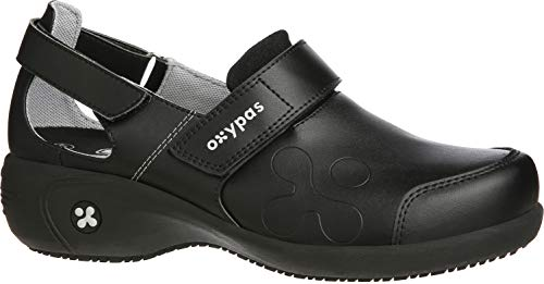 Oxypas Move Up Salma Slip-resistant, Antistatic Nursing Shoes, Black, 5.5 UK (39 EU)