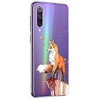 Oihxse Compatible con Xiaomi Redmi Note 4X/Note 4 Funda Suave Gel TPU Silicona Cristal Transparente Carcasa Acuarela Animal Pintado Patrón Protectora Estuche Bumper Caso Case (B9)