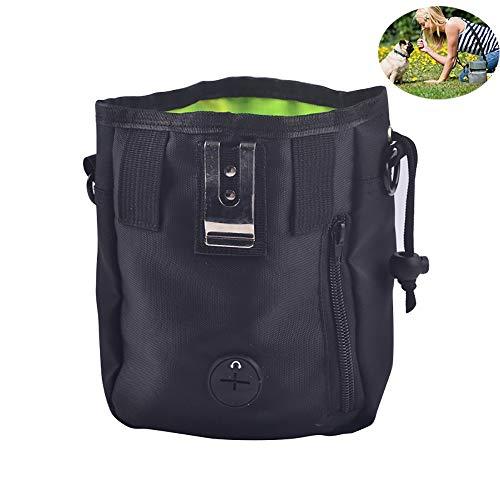 NBSMN Hundetrainingstasche, Hundesnack Spielzeugtasche Trägt Leicht 3 Arten Zu Tragen, Für Kleine Bis Große Hunde (schwarz Grau)