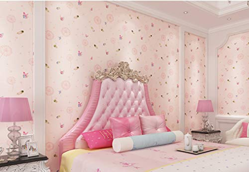 Selbstklebende Tapete Kinderzimmer Tapete Männlich Mädchen Blau Rosa Strawberry Ballon Aufkleber Cartoon Schlafzimmer-schlafzimmer-vliesstoff Pulver (Männliche Pulver)