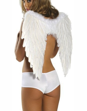 WUNDERSCHÖNE Engelsflügel WEISS Engel Flügel 60x50 Dessous Karneval Kostüm Halloween Weihnachten Christkind Deko Party