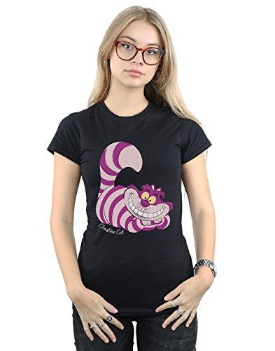 Preisvergleich Produktbild Disney Damen Alice In Wonderland Cheshire Cat T-Shirt Large Schwarz