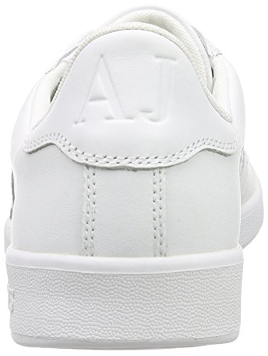 Armani Jeans  06565YO, Baskets  homme Blanc - Weiß (BIANCO - WHITE 10)