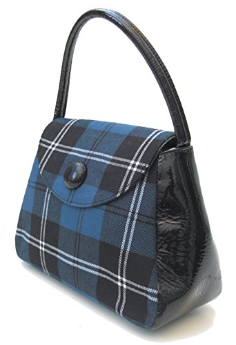 Harris Tweed o da borsetta, fantasia Tartan, taglia S (Ramsay Blue)