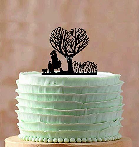 Tortenaufsatz für Hochzeitskuchen mit Aufschrift