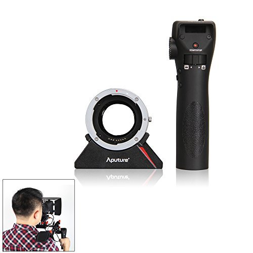 Aputure DEC Radio Wireless Remote Adapter Aperture Follow Focus Controller for Canon EOS EF Lens to Sony E Mount Camcorder w/ Andoer Cleaning Cloth Special