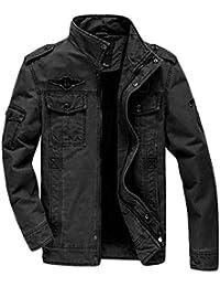 57b9d979bdde95 Yonglan Herren Winterjacke Mit Mehrfache Tasche Military Jacke  Übergangsjacke Freizeit Militärjacke