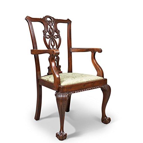 Carver Stuhl Antik, viktorianisches Chippendale Revival, c.1890 (Chippendale Stuhl)